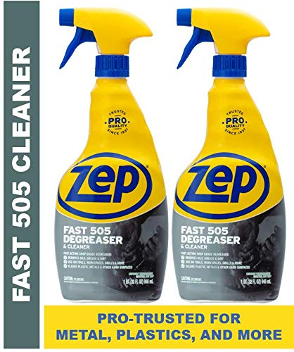 Duty Liquid Grille - Zep Fast 505 Cleaner & Degreaser for Grills, Metal, Plastics and more 32 ounces (Pack of 2)