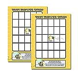 Bumble Bee Baby Shower Bingo Activity Game 20-pack