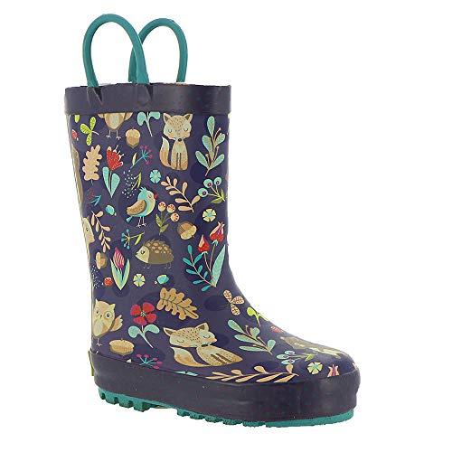 (Western Chief Kids Girls Fairytale Forest Rain Boot, Purple, 10 M US Toddler)