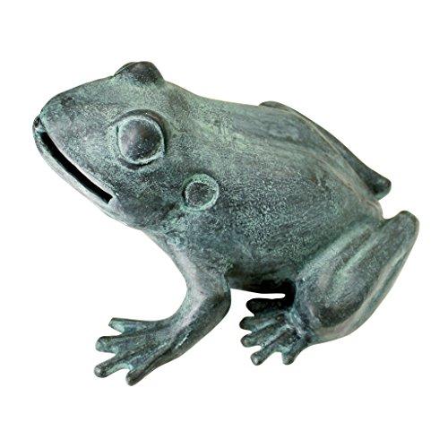 (Design Toscano Medium Bull Frog Cast Bronze Garden Statue)