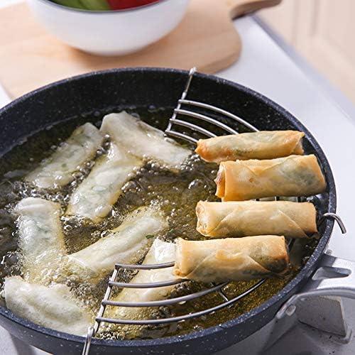 UPKOCH 2 Pcs Wok Anneau Tempura Rack Demi-Cercle Vidange D'huile Rack de Refroidissement Rack pour Les Aliments Frits 18 Cm