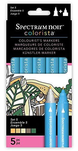Spectrum Noir Colorista Set 5 Markers, Multi-Colour, 5-Piece by Spectrum Noir Colorista