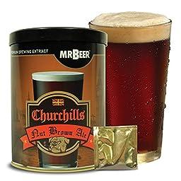 Mr. Beer Churchills Nut Brown Ale Homebrewing Craft Beer Refill Kit