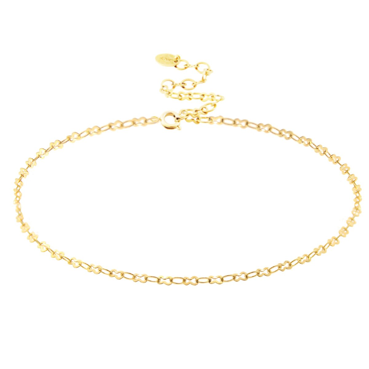 Choker Necklace 18K Gold Plated Chain Choker.Approx. 15'' Adjustable length.