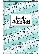Dental Gift - Tooth Journal: dentist gift, dental hygenist gift, dental assistant gift, dental hygienist gift, dental hygiene gift, dental technician gift funny dental gifts bulk tooth shaped dental school graduation gift, dental notebook, dental journal