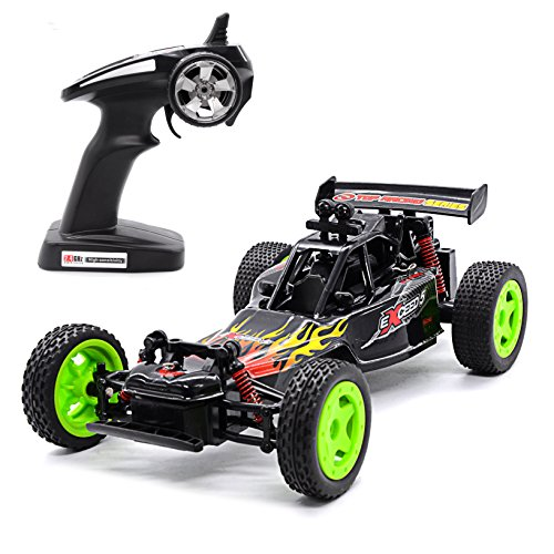 Karting Scale - Tecesy Electric Remote Control RC High Speed Car 1:16 Scale 4WD Drifting Radio Off Road Vehicle Karting RC Car Racing 2.4Ghz 50M Fast Rock RC Buggy with Lights RTR Great Gift for Kids/Freinds