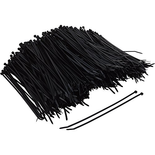 Ironton Multi-Pack of Cable Ties - 1,000-Pk., 11in.L, 50-Lb. Capacity, Black
