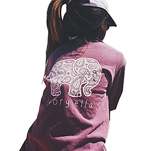 Nice Ldedzz Women's Summer Elephant Printed T Shirt Long Sleeve Blouse Tops