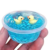 Sunbona❤️ 60ml Kawaii Yellow Duck Mud Mixing Cloud Slime Putty Scented Stress Kids Clay Toy Kids Gifts (A)