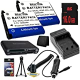 TWO LI-42B Lithium Ion Replacement Batteries w/Charger + 16GB SDHC Memory Card + Memory Card Reader/Wallet + Deluxe Starter Kit for Olympus Stylus Tough TG-310, Tough 3000, Stylus 850, Stylus 5010, Stylus 7030, Stylus 7040, Stylus FE4030, VR310, VR320, VR330 DavisMAX Accessory Bundle