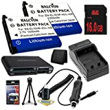 TWO LI-42B Lithium Ion Replacement Batteries w/Charger + 16GB SDHC Memory Card + Memory Card Reader/Wallet + Deluxe Starter Kit for Olympus Stylus Tough TG-310, Tough 3000, Stylus 850, Stylus 5010, Stylus 7030, Stylus 7040, Stylus FE4030, VR310, VR320, VR