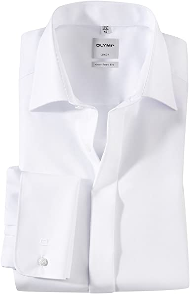 Olymp XXL Elegante Camisa Blanca de Manga Larga sin Plancha ...