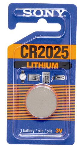 Sony CR2025 Lithium Coin Battery (1 Battery)