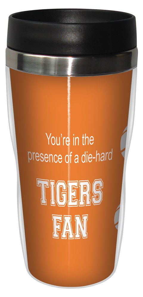 Tree-Free Greetings sg24671 Tigers College Basketball Sip 'N Go Stainless Steel Lined Travel Tumbler, 16 Ounce