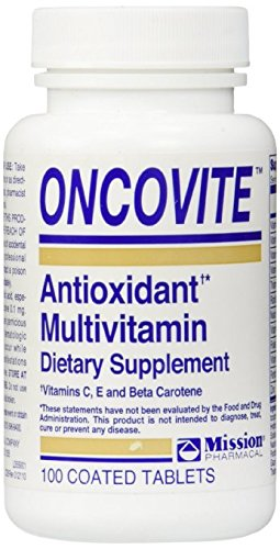 Oncovite Antioxidant Multivitamin, Tablets - 100 ea Pack of 5 by Oncovite