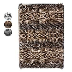 Conseguir Caso del patrón de piel de serpiente de la PU de cuero duro para iPad mini (colores surtidos) , Blanco
