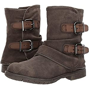 Not Rated Women's Who's Talkin Motorcycle Boot, Taupe, 8 M US