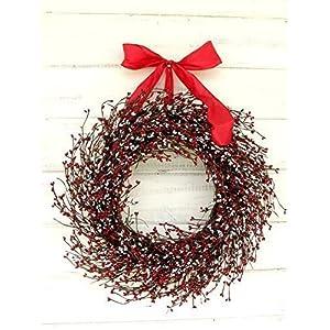 Christmas Wreath, Winter Wreath, Summer Wreath-4th of July Wreath-Door Wreath-Valentines Day Decor,Winter Wreath,Holiday Wreath, Red Wreath,SCENTED Wreath, Summer Home Decor-Holiday Decor- Gifts 23