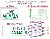 Live Animal Airline Labels - 6 FULL Sets Labels + 6 Kennel Tags