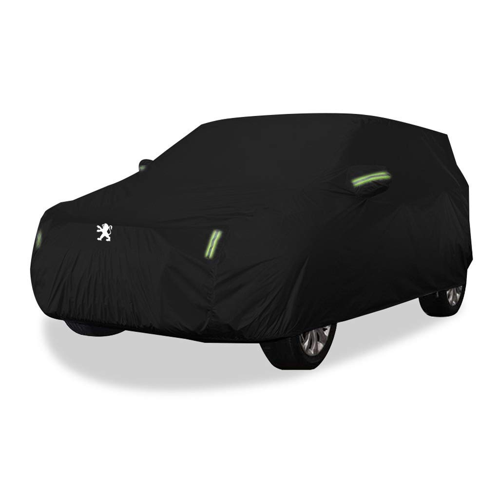SXZHSM-car cover Car Car Cover Indoor and Outdoor Thick Oxford Cloth Anti-fouling Sun Protection Rain Warm Cover for Peugeot 3008 Models (Size : Oxford Cloth - Single Layer)