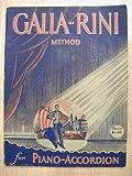 Galla-Rini Method for Piano-Accordion (Fourth Abridged Edition 1937)