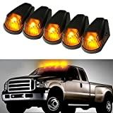 low profile cab lights - iJDMTOY 5pcs Classic Style Cab Roof Clearance Marker Running Lamps w/ LED Light Bulbs For Truck SUV 4x4, Smoked Lens