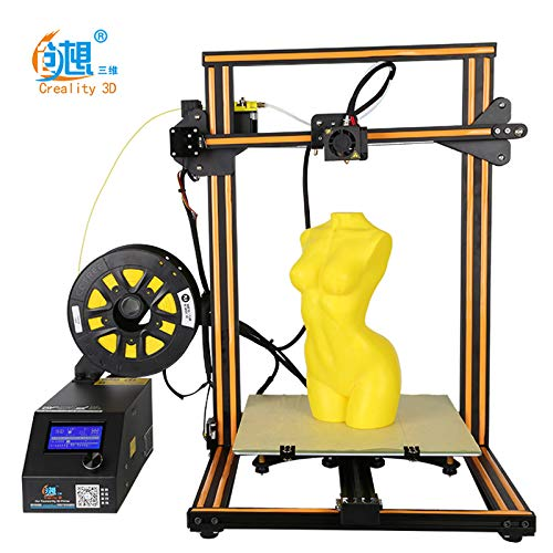 Resume Printing by Pimiho 300 x 300 x 400mm Dual Z Axis Creality CR-10S 3D Printer New Version Orange with Filament Sensor