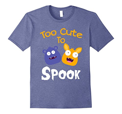 Mens Too cute to spook shirt - Cute Halloween outfits for boys 2XL Heather (Cute 13 Year Old Halloween Costumes)