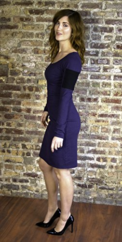 Dress with Long Sleeves & Pocket - Hemp & Organic Stretch Jersey by True Hemp Clothing