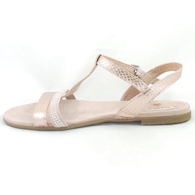 MARCO TOZZI 28124 Calo Rose Metallic Open Toe Sandal: Amazon