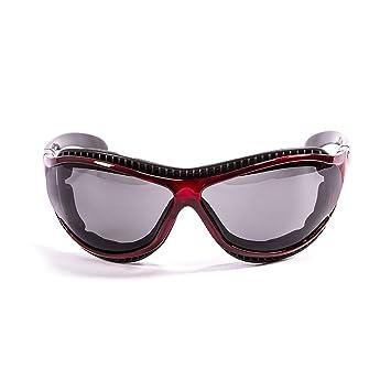 Ocean Sunglasses Tierra de Fuego - Gafas de Sol polarizadas - Montura : Rojo Transparente -
