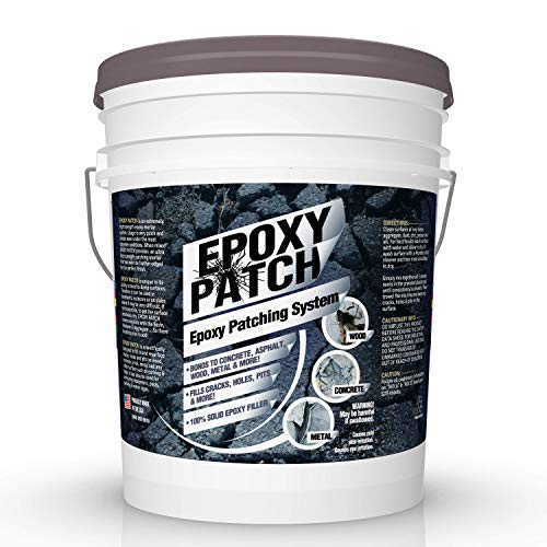 3 Part EPOXY Mortar Patching System - Contains Resin, Hardener & Aggregate. Fills Cracks, Holes, Pits & More! Bonds to Concrete, Asphalt, Wood & Metal. (25 lb -