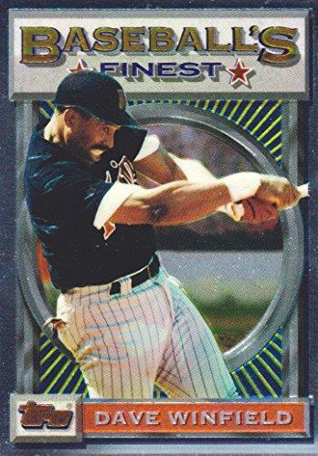 1993 Topps Finest Baseball #162 Dave Winfield Minnesota Twins