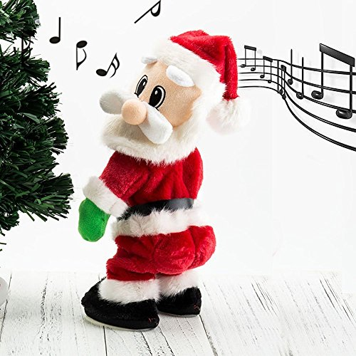 Coldgirl Santa Claus Electric Toy, Singing Wiggle Hip/body, Best Christmas Gift for Kids,14 Inches