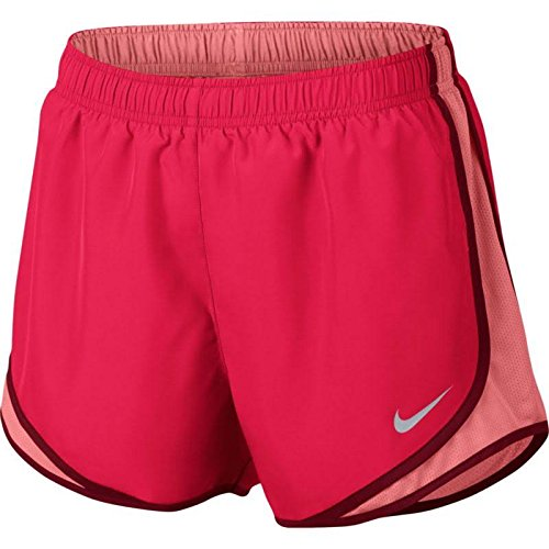 NIKE Womens Tempo Fitness Colorblock Shorts Red M by NIKE