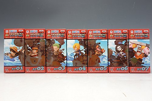 One Piece World Collectable Figure Attack Mini Merry 7 Figures Complete Set Banpresto Japan