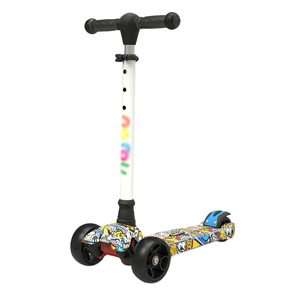 リトルキッズスリーキックスクーター、2歳12歳の子供にぴったりの、LEDライトアップホイール、調節可能なハンドル&軽量構造 (色 : Style2)  Style2 B07KWYPHRN