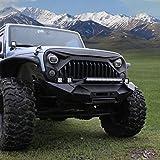 Automotive : Esright Front Matte Grille Fury Grid Gladiator Vader Grill for Jeep Wrangler Rubicon Sahara Sport JK 2007-2017 (Black)