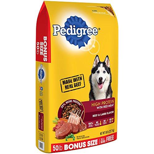 PEDIGREE High Protein - Beef and Lamb Flavor Adult Dry Dog Food, 50 Pound Bonus Bag