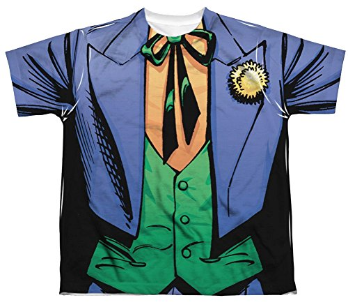 [The Joker Costume All Over Youth Front T-Shirt] (Joker Costumes Kids)
