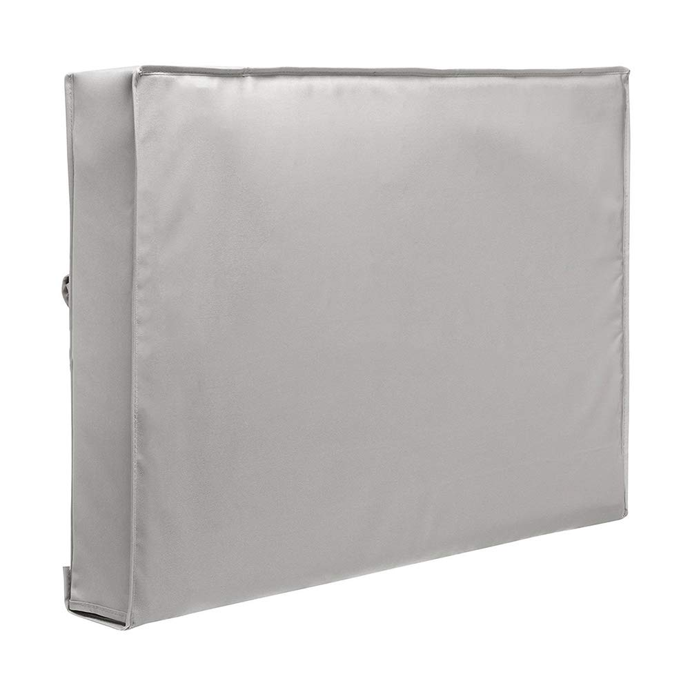 Patio Cover,Furniture Cover Protective Cover, Outdoor TV Set Dust Cover, Oxford Cloth Material Waterproof/Breathable/Sunscreen Safely Protect Your TV,Gray,65in