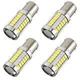 WarmCare 5630 33SMD LED Backup Reverse Light Bulbs Super Bright Canbus Error Free Signal Side lights 6000K White (Pack of 4)