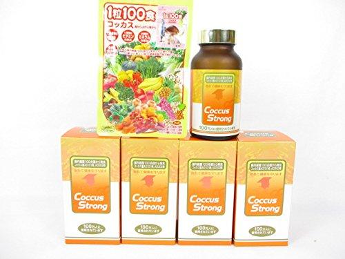 コッカスストロング 360粒入/瓶X4瓶+「1粒100食コッカス」1袋付セット B01MTLLZ7Y