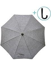 Luchild Sonnenschirm Kinderwagen Universal Sonnenschirm Buggy 73 cm Durchmesser mit Einem Regenschirmgriff (Grauer Denim)