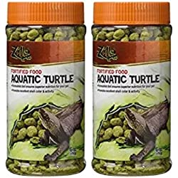 Zilla Fortified Aquatic Turtle Reptile Food, 6-Ounce (2 Pack)