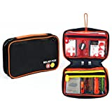 First Aid Kit Bag, Relief Pod Black Emergency Small Safety Home Kit, 32pc