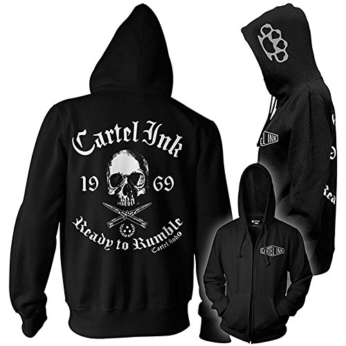 Unisex Cartel Ink Ready To Rumble Girls Design Zippered Hoodie S (Ink Shop)