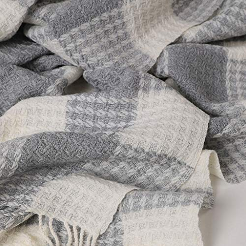 Square Mei Gray Twill Doppio Scopo Autunno Mercerizzato Caldo Sciarpa Stitching colore Square Scialle Weave Inverno E afaZxwrS
