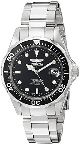Invicta Men's 'Pro Diver' Quartz Stainless Steel Diving Watch, Color:Silver-Toned (Model: INVICTA-8932 by Invicta