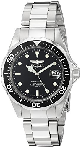 Tone Bracelet Silver Invicta - Invicta Men's 8932 Pro Diver Collection Silver-Tone Watch